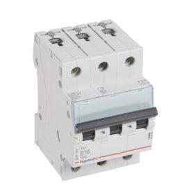 Legrand TX3 Автоматический выключатель 3P 16A (B) 6000/10kA
