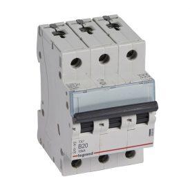 Legrand TX3 Автоматический выключатель 3P 20A (B) 6000/10kA