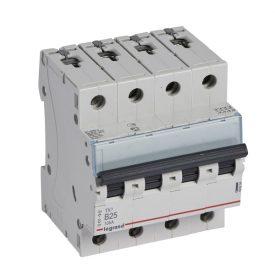 Legrand TX3 Автоматический выключатель 4P 25A (B) 6000/10kA