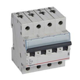 Legrand TX3 Автоматический выключатель 4P 13A (С) 6000/10kA