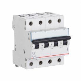 Legrand TX3 Автоматический выключатель 4P 25A (С) 6000