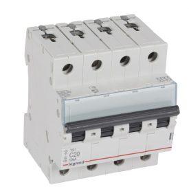Legrand TX3 Автоматический выключатель 4P 20A (С) 6000/10kA