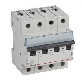 Legrand TX3 Автоматический выключатель 4P 40A (С) 6000/10kA