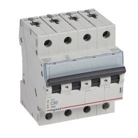 Legrand TX3 Автоматический выключатель 4P 50A (С) 6000/10kA