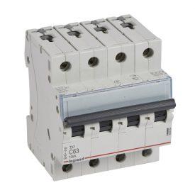 Legrand TX3 Автоматический выключатель 4P 63A (С) 6000/10kA