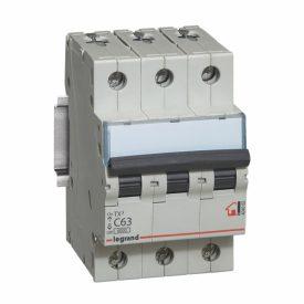 Legrand TX3 Автоматический выключатель 3P 63A (С) 6000