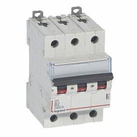 Legrand DX3 Автоматический выключатель 3P 2A (B) 6000/10kA