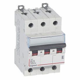 Legrand DX3 Автоматический выключатель 3P 25A (B) 6000/10kA