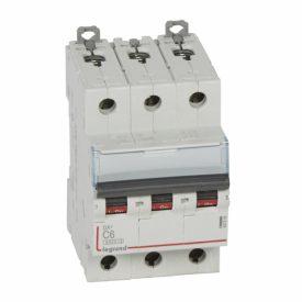 Legrand DX3 Автоматический выключатель 3P 6A (С) 6000/10kA