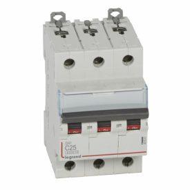 Legrand DX3 Автоматический выключатель 3P 25A (С) 6000/10kA