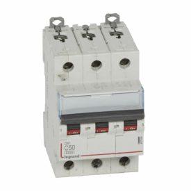 Legrand DX3 Автоматический выключатель 3P 50A (С) 6000/10kA