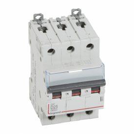 Legrand DX3 Автоматический выключатель 3P 25A (D) 6000/10kA