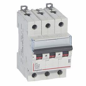 Legrand DX3 Автоматический выключатель 3P 32A (D) 6000/10kA