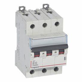 Legrand DX3 Автоматический выключатель 3P 10A (B) 10kA/16kA