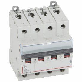 Legrand DX3 Автоматический выключатель 4P 2A (B) 10kA/16kA