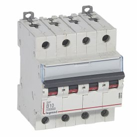Legrand DX3 Автоматический выключатель 4P 10A (B) 10kA/16kA