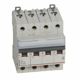 Legrand DX3 Автоматический выключатель 4P 13A (B) 10kA/16kA