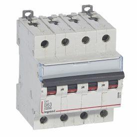 Legrand DX3 Автоматический выключатель 4P 63A (B) 10kA/16kA