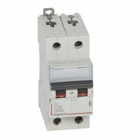 Legrand DX3 Автоматический выключатель 2P 32A (С) 10kA/16kA