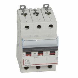 Legrand DX3 Автоматический выключатель 3P 16A (С) 10kA/16kA