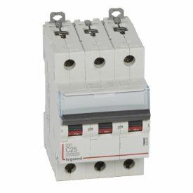 Legrand DX3 Автоматический выключатель 3P 25A (С) 10kA/16kA