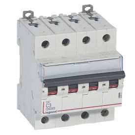 Legrand DX3 Автоматический выключатель 4P 3A (С) 10kA/16kA