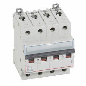 Legrand DX3 Автоматический выключатель 4P 10A (С) 10kA/16kA