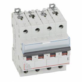 Legrand DX3 Автоматический выключатель 4P 25A (С) 10kA/16kA