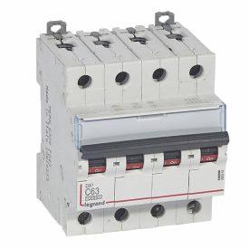 Legrand DX3 Автоматический выключатель 4P 63A (С) 10kA/16kA