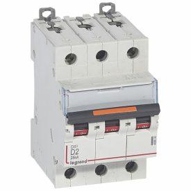Legrand DX3 Автоматический выключатель 3P 2A (D) 25кА