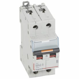 Legrand DX3 Автоматический выключатель 2P MA 2,5A 25кА