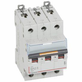 Legrand DX3 Автоматический выключатель 3P MA 2,5A 25кА