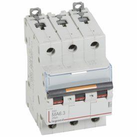 Legrand DX3 Автоматический выключатель 3P MA 6,3A 25кА
