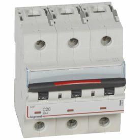 Legrand DX3 Автоматический выключатель 3P 20A (C) 36кА