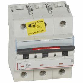 Legrand DX3 Автоматический выключатель 3P 32А (C) 36кА