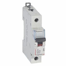 Legrand DX3 Автоматический выключатель 1P 20A (D) 10кА