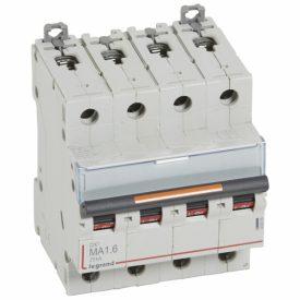 Legrand Автоматический выключатель DX3 4П MA1,6A 25кА