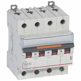 Legrand Автоматический выключатель DX3 4П MA10A 25кА