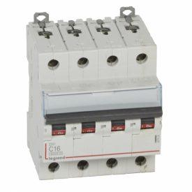 Legrand DX3 Автоматический выключатель 6000 - 10 кА - тип характеристики C - 4П - 400 В~ - 16 А - 4