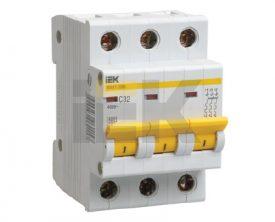 IEK (ИЭК) IEK Автоматический выключатель ВА47-29М 3P 2A 4,5кА х-ка D