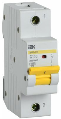 IEK (ИЭК) IEK Автоматический выключатель ВА47-150 1Р 100А 15кА характеристика C