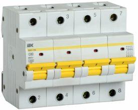 IEK (ИЭК) IEK Автоматический выключатель ВА47-150 4Р 80А 15кА характеристика C