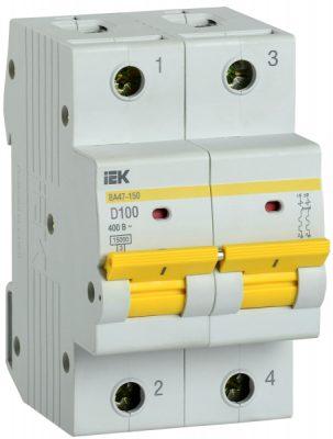 IEK (ИЭК) IEK Автоматический выключатель ВА47-150 2Р 100А 15кА характеристика D