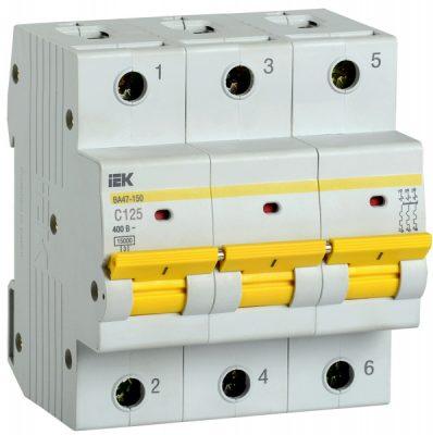IEK (ИЭК) IEK Автоматический выключатель ВА47-150 3Р 125А 15кА х-ка C
