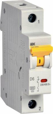 IEK (ИЭК) IEK Автоматический выключатель ВА47-60МА без тепл. расцеп. 1P 6А 6кА D