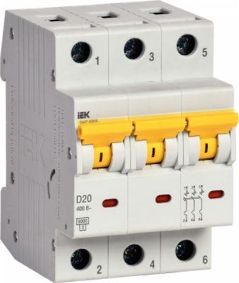 IEK (ИЭК) IEK Автоматический выключатель ВА47-60МА без тепл. расцеп. 3P 20А 6кА D
