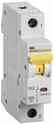 IEK (ИЭК) IEK Автоматический выключатель ВА47-60M 1Р 63А 6кА B