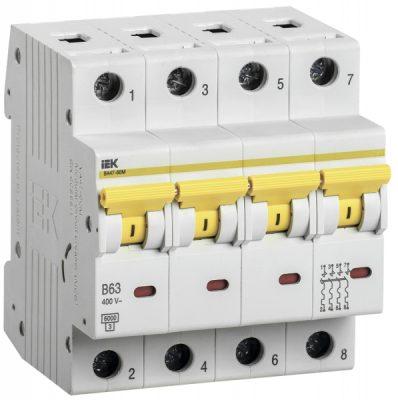 IEK (ИЭК) IEK Автоматический выключатель ВА47-60M 4Р 63А 6кА B