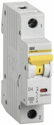 IEK (ИЭК) IEK Автоматический выключатель ВА47-60M 1Р 4А 6кА D