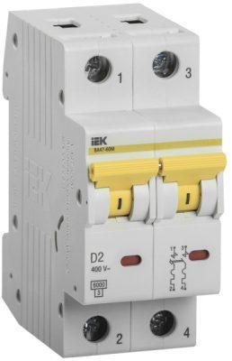 IEK (ИЭК) IEK Автоматический выключатель ВА47-60M 2Р 2А 6кА D